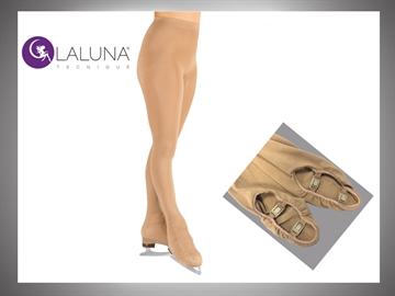LALUNA American Tights (with CLASP) 100 Denier with Crystals